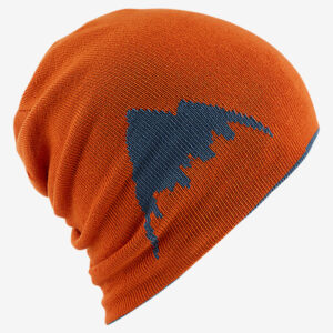 Burton - Billboard Slouch Beanie Washed Blue/Maui - Gråblå/Orange vändbar mössa
