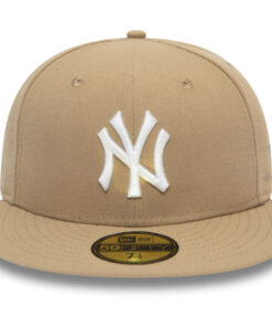 New Era Fitted Keps New York Yankees Beige