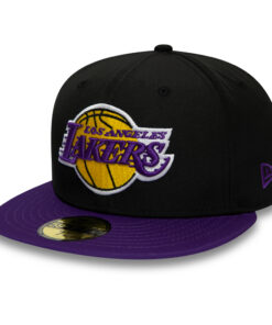 New Era - Fitted keps - Los angeles lakes svart lila