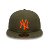 New Era 59fifty New York Yankees fitted keps grön