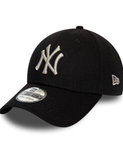 New Era - 39Thirty NY Yankees - Svart/Silver Keps