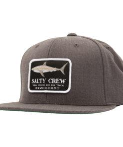Salty Crew - Farallon 6 Panel - Mörk Grå - Fram