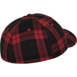 Flexfit Keps - Tartan plaid - Röd/Svart