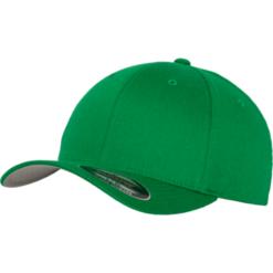 Flexfit - Wooly Combed - Grön Fram sidan