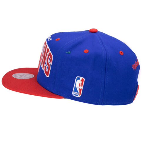 Snapback keps Mitchell and ness Detroit Pistons NBA blå