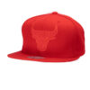 Chicago Bull Röd/röd snapback NBA keps mitchell and ness