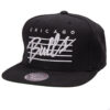 Chicago Bulls NBA snapback svart mitchell and ness keps