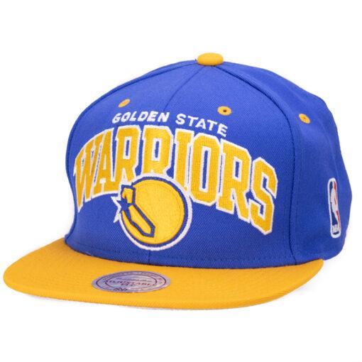 Mitchell and Ness - Golden State Warriors - Blå NBA keps