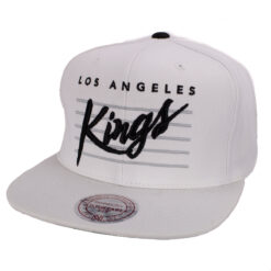 Los Angeles Kings Vit snapack keps Mitchell and ness svart