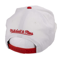 Chicago Bulls vit NBA keps Snapback Mitchell and ness keps