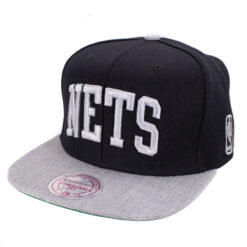 Nets Mitchell and ness Snapback svart/grå/silver NBA