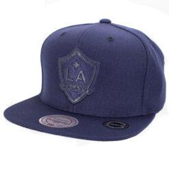 LA Galaxy Mörkblå snapback keps mitchell and ness