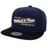 Snapback keps Mitchell and ness Box logo vit svart