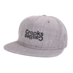 Crooks and Castle Opposite Grå grey snapback