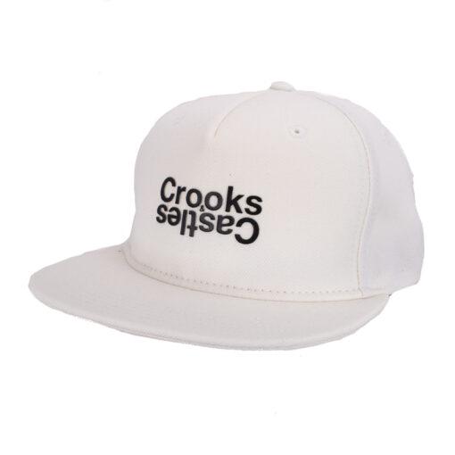 Crooks and Castle Opposite vit white black snapback