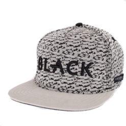 Black melerad vit/svart snapback keps Cayler and sons