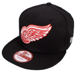 Red Wings keps new era svart röd snapback