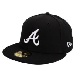 New era Atlanta Braves svart fitted keps