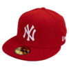 New era New york yankees röd fitted keps