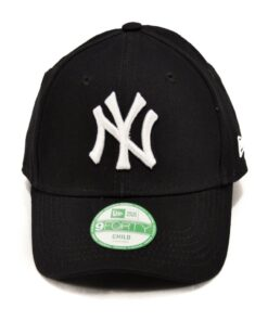 Svart New Era keps barn New York logga vit strapback