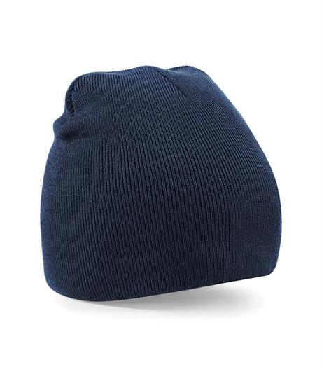 Beechfield - Beanie Knitted Hat French Navy - mössa