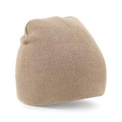 Beechfield - Beanie Knitted Hat Stone - beige mössa
