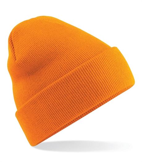 Beechfield stickad mössa, orange