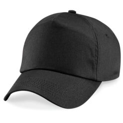 Beechfield - Junior Original 5 panel keps, svart