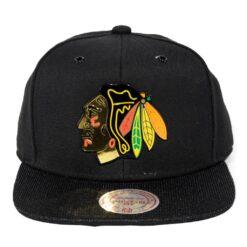Chicago Blackhawks NHL kepsar mitchell and ness svart