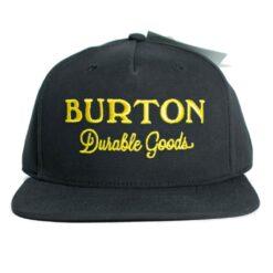 Burton Durable Good svart snapback keps