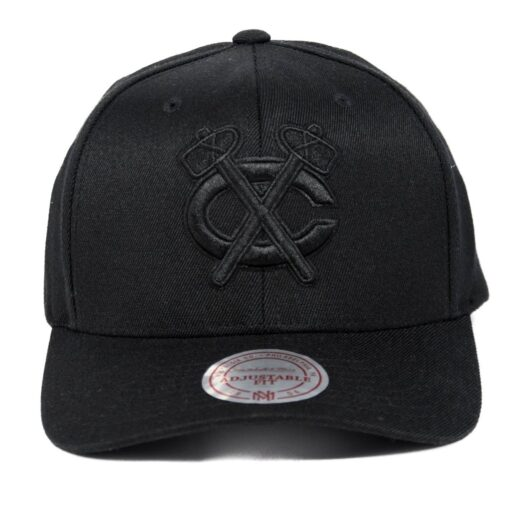 Chicago C logo svart keps flexfit böjd skärm