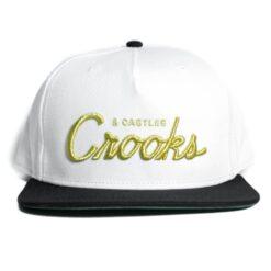 Crooks And Castle Team Crooks Vit svart guld
