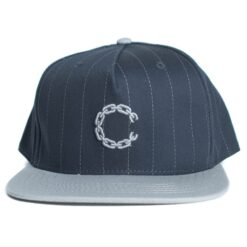 Crooks and Castle Pinstripe chain marinblå navy snapback