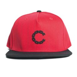 Crooks and Castle Pinstripe chain röd Red snapback