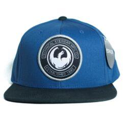 Dragon Snapback keps cut cap blå svart drake
