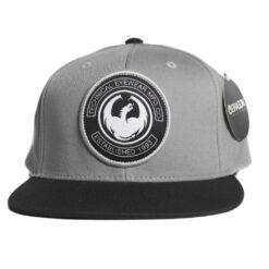 Dragon Snapback keps cut cap grå svart drake
