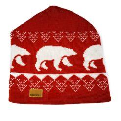 Röd mössa vita björnar Encore