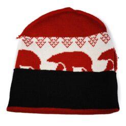Röda mössor vita björnar inuti