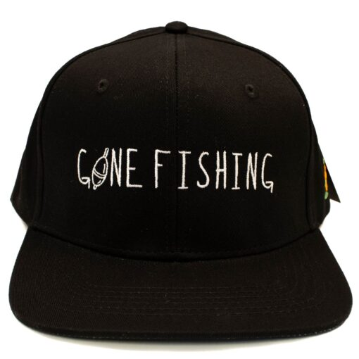SQRTN Snapback keps Gone Fishing svart
