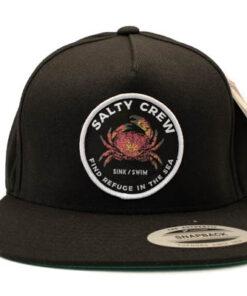 Salty Crew -Softshell 6 Panel - Svart - Fram