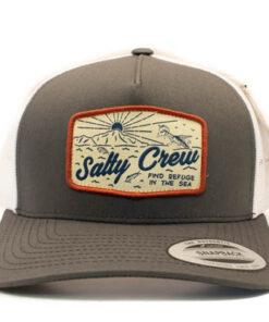 Salty Crew - Frenzy Retro trucker - Mörkgrå vit - Fram
