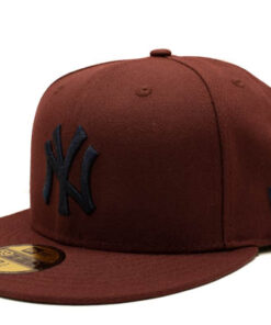 New Era keps vinröd Fitted new york yankees fram