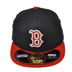 Fitted keps New Era boston Red sox svart röd