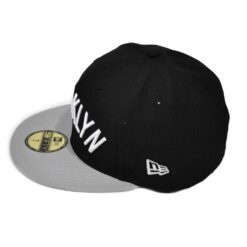 New Era brooklyn Nets fitted keps svart grå