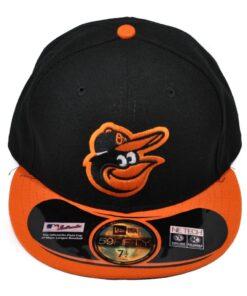 New Era Fitted svart orange keps Baltimore Orioles MLB