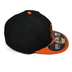 New Era Fitted svart orange keps Baltimore Orioles MLB