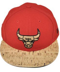Krok röd keps chicago bulls new era fitted