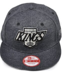 Los angeles kings grå melerad keps new era snapback