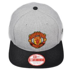 Manchester United new era keps snapback keps grå/svart