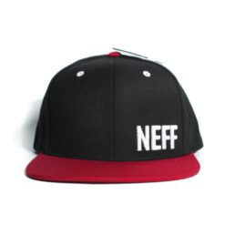 Neff Daily Cap röd svart snapback keps